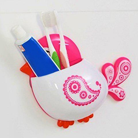 Store Cartoon Bird Wall Suction Toothbrush Holder