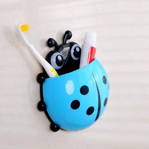 Buy Cartoon Ladybird Wall Suction Toothbrush Holder BLUE