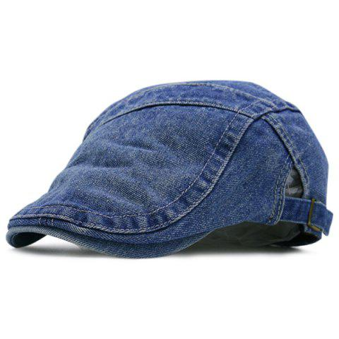 Sale Spliced Reminiscence Denim Newsboy Hat - DEEP BLUE  Mobile