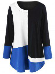 Color Block Plus Size T-Shirt