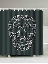 Skull Printed Polyester Waterproof Shower Curtain