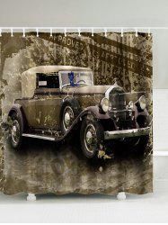 Vintage Car Polyester Waterproof Shower Curtain