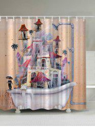 Dramatic House Bathtub Polyester Waterproof Shower Curtain