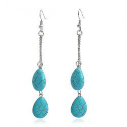 Artificial Turquoise Teardrop Earrings