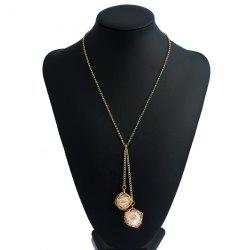 Double Hollow Out Metal Intertwining Ball Necklace