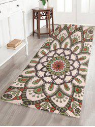 Bohemia Style Flower Flannel Bathroom Runners Carpet