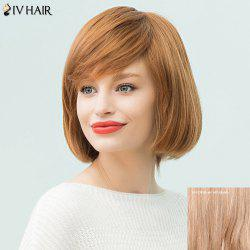 Siv Hair Medium Straight Sided Bang Bob Human Hair Wig
