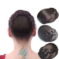 Vintage Braid Bun Capless High Temperature Fiber Chignons