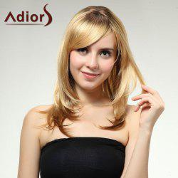 Adiors Long Layered Side Bang Straight Synthetic Wig
