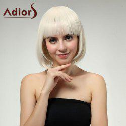 Adiors Short Straight Bob Full Bang Synthetic Wig