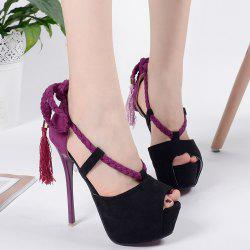 Weaving Peep Toe Tassels Sandals