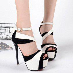 Patent Leather Peep Toe Sandals