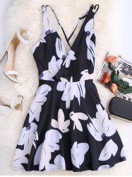 Floral Criss Cross Summer Skater Dress