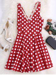Criss Cross Backless Mini Skater Dress -