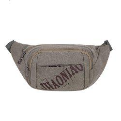 Sports Graphic Canvas Waist Bag