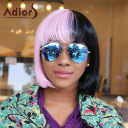 Adiors Short Two Tone Insert Full Bang Synthetic Cosplay Melanie Martinez Wig