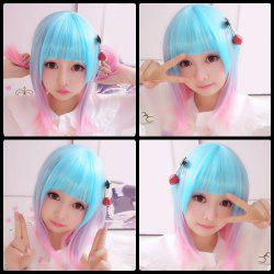 Harajuku Medium Straight Gradient Cosplay Lolita Synthetic Wig