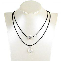 Tear Drop Ball Rhinestone Hollow Out Necklace
