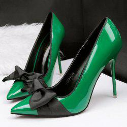 Mini Heel Patent Leather Pumps