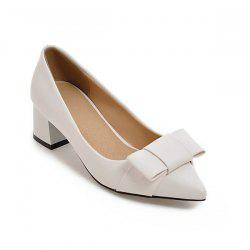 Pointy Patent Leather Pumps - WHITE