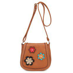 Flowers Detail Scalloped Crossbody Bag