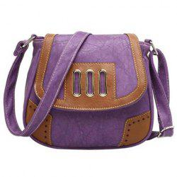 Metal Detail Colour Block Crossbody Bag
