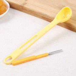 Canned Fruit Colander Spoon with Fork