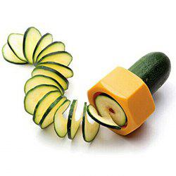 Kitchen Gadget Vegetable Cucumber Spiral Slicer - YELLOW