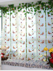Roman Pastoral Printed Window Sheer Tulle Curtain -