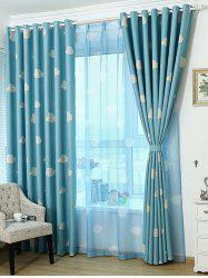 Cartoon Cloud Printed Window Screening Blackout Curtain