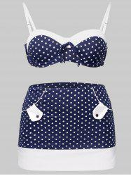 High Waisted Polka Dot Push Up Bikini