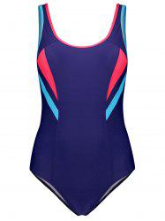 Colorblock Padded One Piece Swimwear