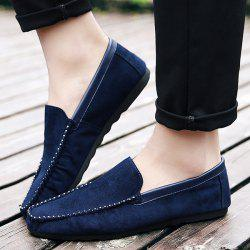 Round Toe Faux Suede Casual Shoes