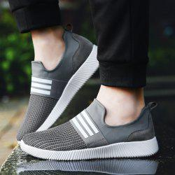 Striped Elastic Band Athletic Shoes