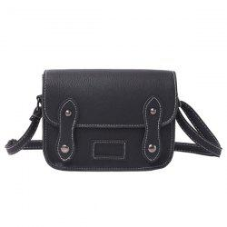 Stitching Faux Leather Cross Body Bag -