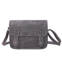 Stitching Faux Leather Cross Body Bag - GRAY