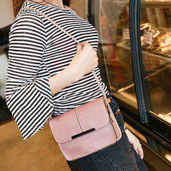 Metal Trimmed Cross Body Flap Bag - PINK