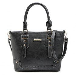 Metal and Straps Detail Handbag