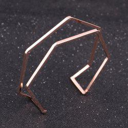 Geometric Hexagon Cuff Bracelet