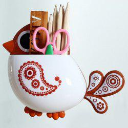 Cartoon Bird Wall Suction Toothbrush Holder - COFFEE