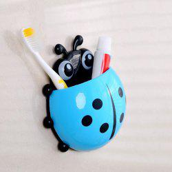 Cartoon Ladybird Wall Suction Toothbrush Holder - BLUE