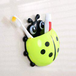 Cartoon Ladybird Wall Suction Toothbrush Holder - GREEN