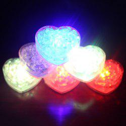 Heart Shape LED Light Up Flashing Ice Cube
