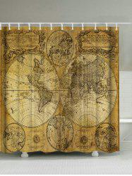 Ancient World Maps Polyester Waterproof Shower Curtain