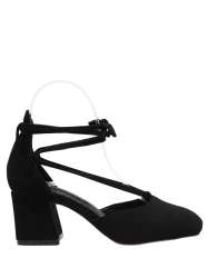Square Toe Block Heel Pumps