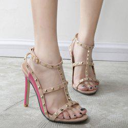 T Bar Stiletto Heel Sandals