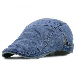 Spliced Reminiscence Denim Newsboy Hat - MEDIUM BLUE