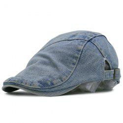Spliced Reminiscence Denim Newsboy Hat - CLOUDY