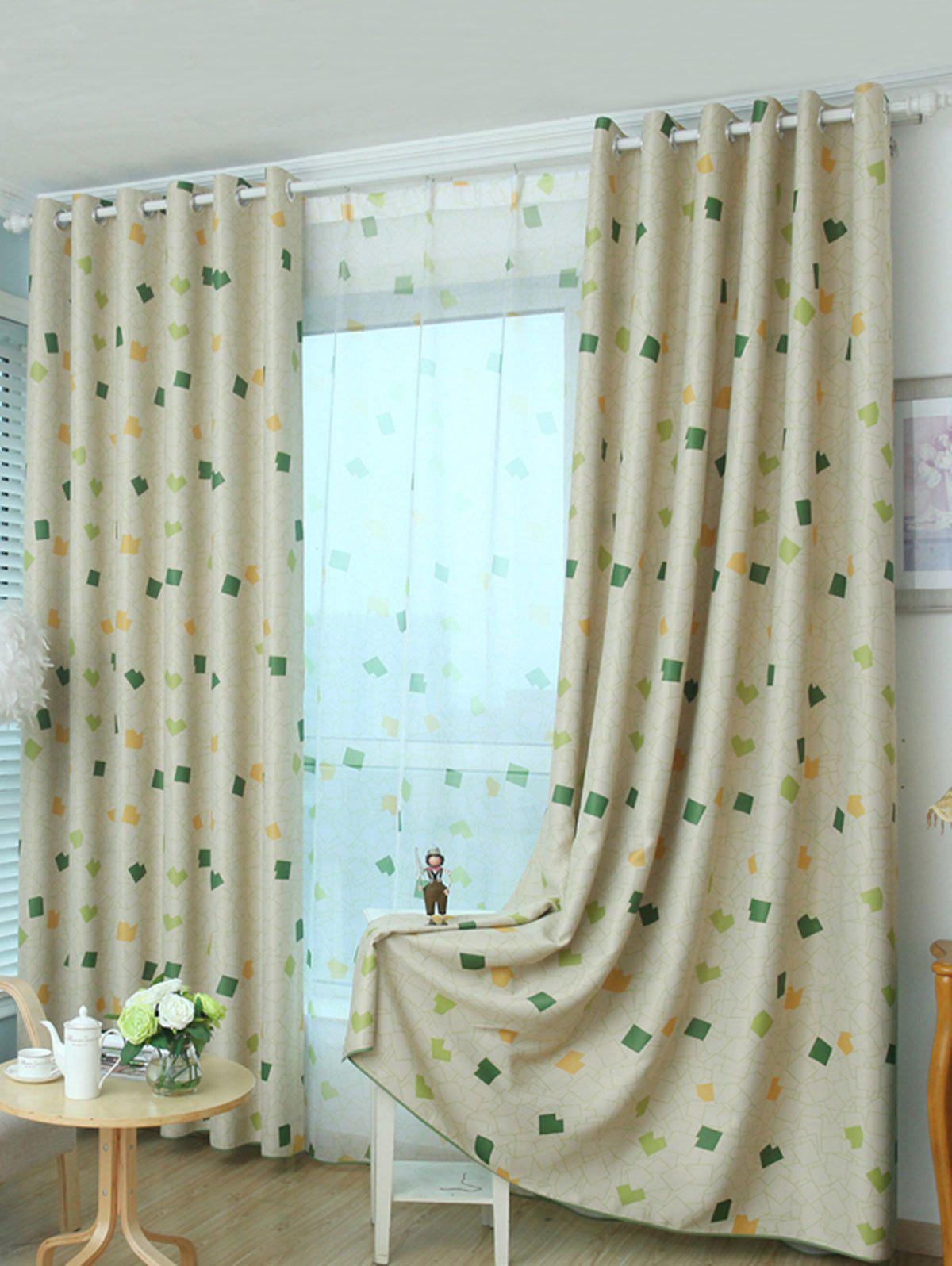 New Window Shading Grommet Top Blackout Curtain
