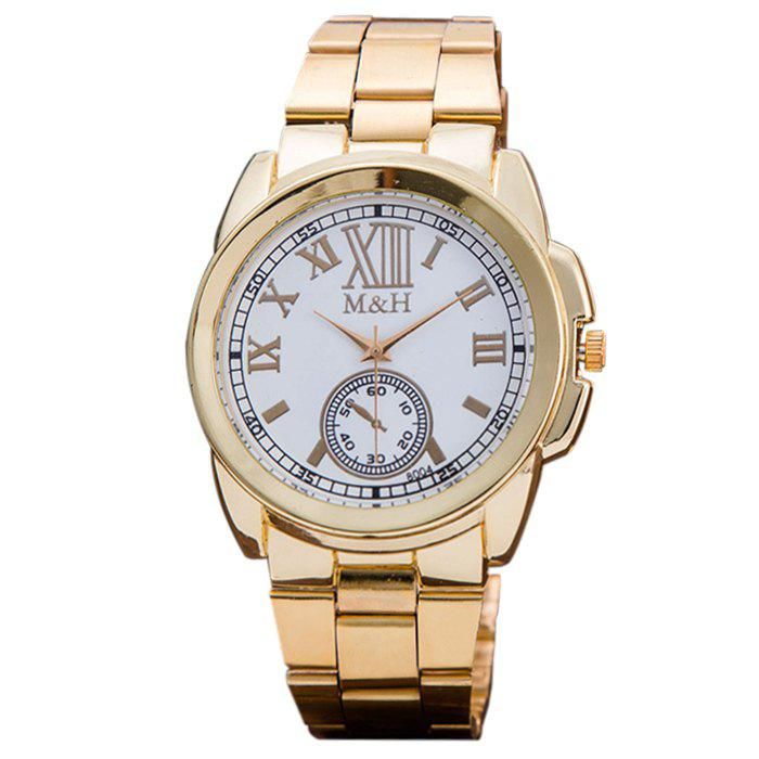 Fancy Alloy Strap Roman Numerals Analog Watch